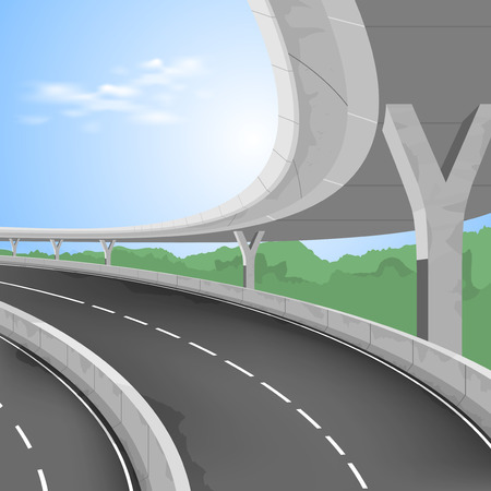 elevated: Elevated road,motorway vector transportation background