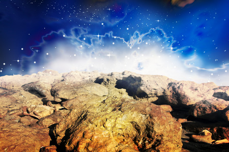 planetoid: Galaxy scenery,planetoid nature  background