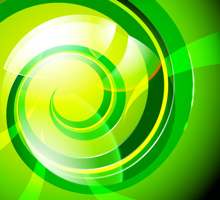 striped background: Glossy green abstract vector background