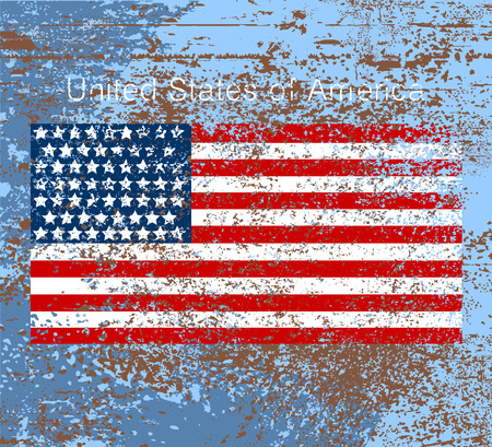 american vintage: United States of America flag scene,grunge style vector background