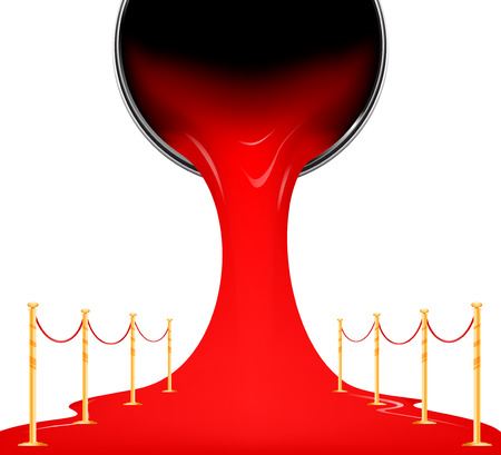 red color: Red carpet from paint canned concepts vector background