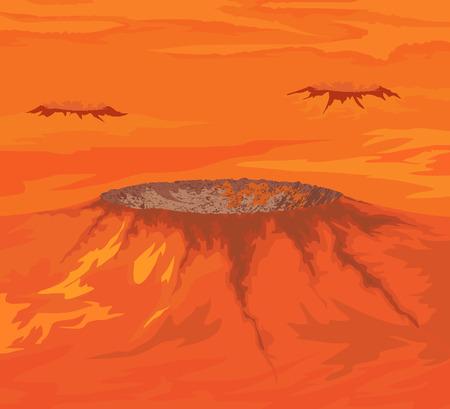De kraters van Venus planeet vector aard achtergrond