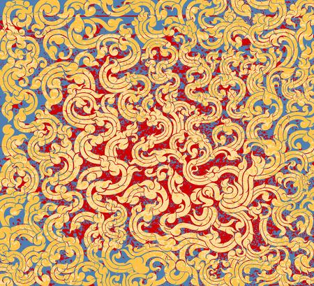 vine art: Vine art pattern grunge style vector background Illustration