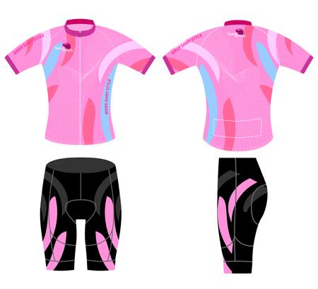camisa da bicicleta de design do estilo da mulher do vetor em um fundo branco