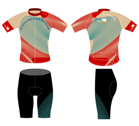 Sports shirt,cycling vest design vector on a white background