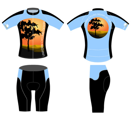 sports uniform: Uniform cycling design,sports bike shirt on a white background Illustration