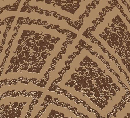 thai culture: Brown art pattern,Thai culture style vector abstract background