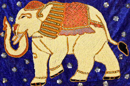 embroidered: Embroidered elephant,Burmese style