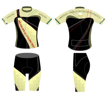 Cycling vest style,sports shirt design vector on a white background