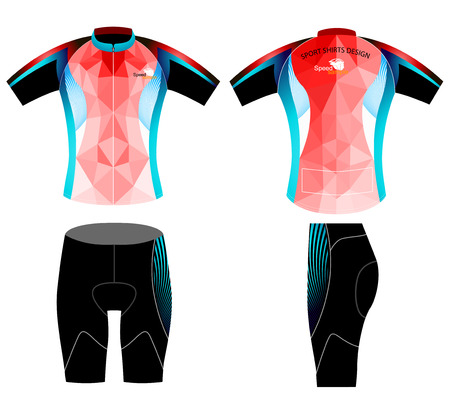 cycling shorts: Sportswear,cycling vest low poly style vector on a white background