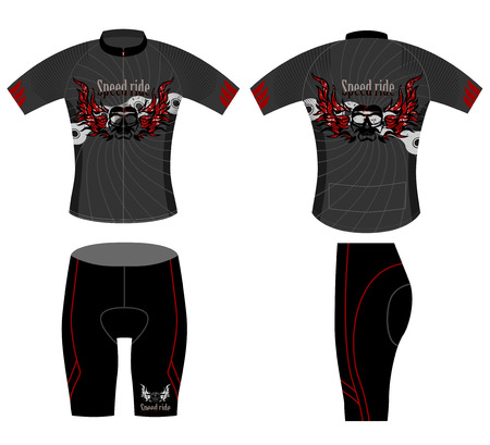 Speedy ride,cycling vest design on a white background