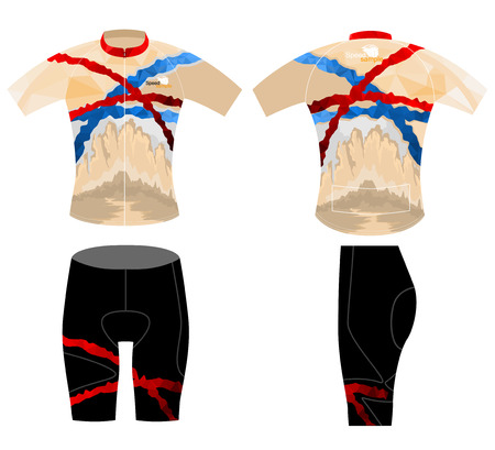 Sports shirt,cycling vest design low poly style vector on a white background