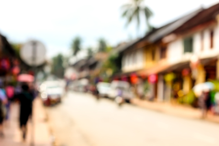 soft center: Luang prabang city center with soft and blurred abstract background Stock Photo