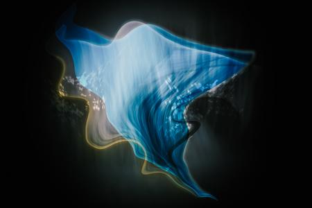 translucent: Translucent blue shape scene abstract background