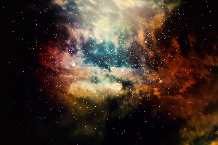 Stars field of space in the universe nature abstract background