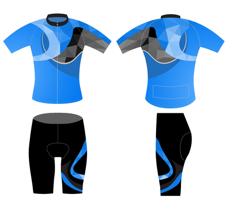 sportswear: Sportswear fashion design vector low poly style on a white background Illustration