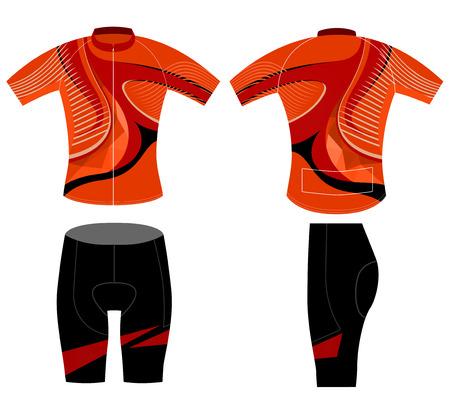 sportswear: Sportswear uniform,cycling vest vector design on a white background Illustration