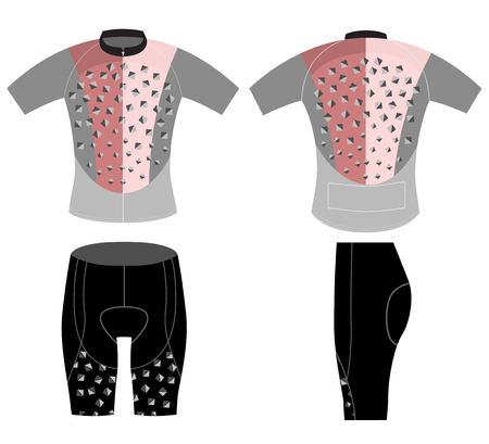 Cycling vest sports modern style vector design on a white background