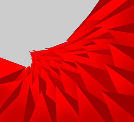 triangle shaped: Red color triangle shaped scene vector abstract background Illustration