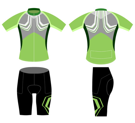 greenish: Cycling vest greenish style vector on a white background