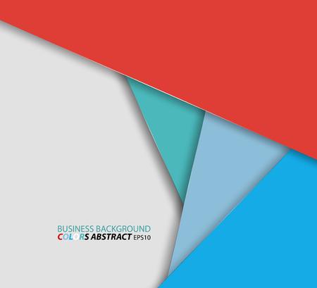 Zakelijke kleuren vector abstracte achtergrond Vector Illustratie