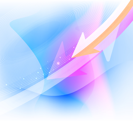 backdrop design: Technology and arrows shaped concepts vector abstract background