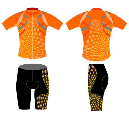 sportswear: Cycling vest,sportswear graphic t-shirt vector on a white background