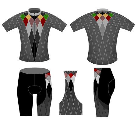 sportswear: Sportswear,cycling vest style vector design on a white background