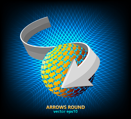 circle design: Arrows round shaped scene vector abstract background