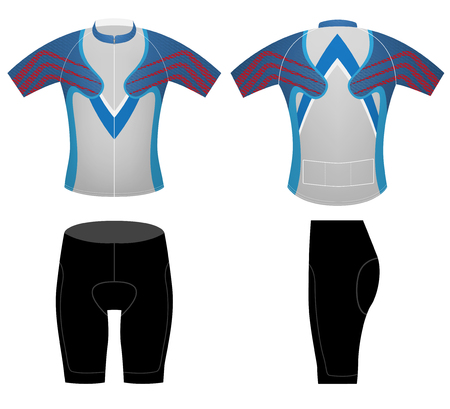 Cycling clothing sports t-shirt vector design on a white background