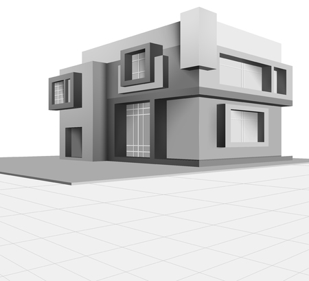 built: Built scene new house vector design on a white background