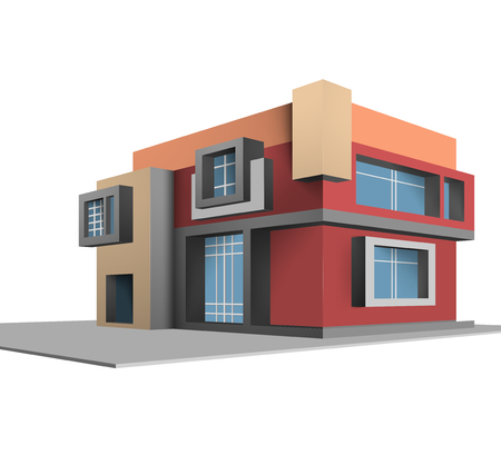 residential structure: Completely new house vector design on a white background