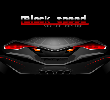 sports cars: Black speed vector transportation,sports cars background Illustration