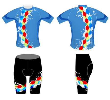 splashy: Splashy sports t-shirt cycling vest design on a white background Illustration
