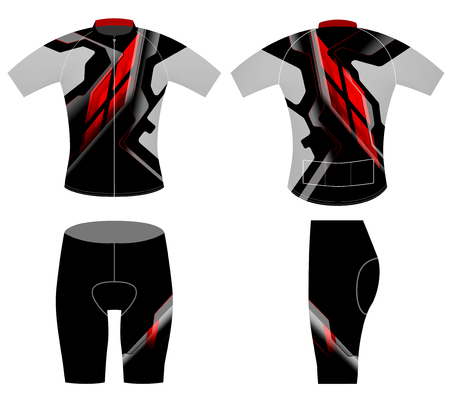 Sports graphics t-shirt cycling vest vector on a white background Illustration