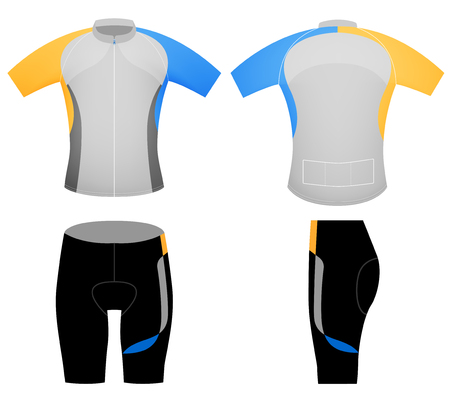 Cycling vest uniform,vector design graphic t-shirt on a white background