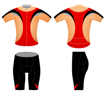 cycling shorts: Sports cycling shorts,vector graphic t-shirt design on a white background