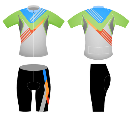 Cycling vest sports t-shirt,vector design on a white background