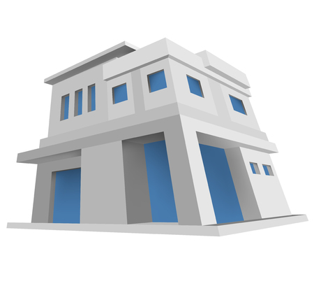 architectural styles: New house model architecture style vector design on a white background Illustration