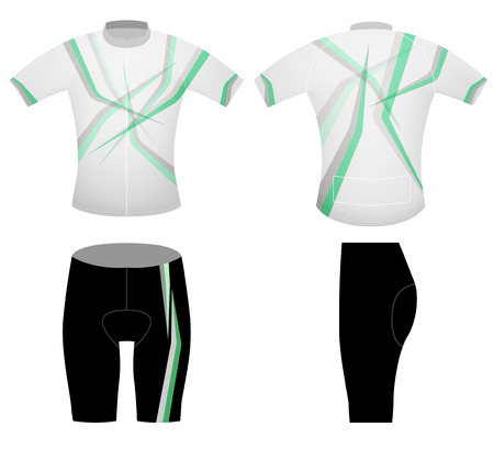 Green leaf style t-shirt,cycling vest design on a white background