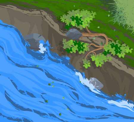 creek: Creek and forest nature background