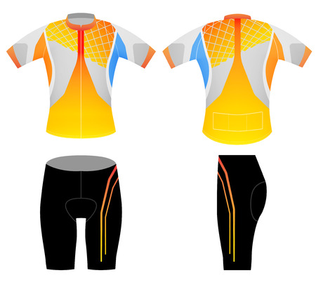 bicycling: Sports cycling style,cycling vest design on a white background