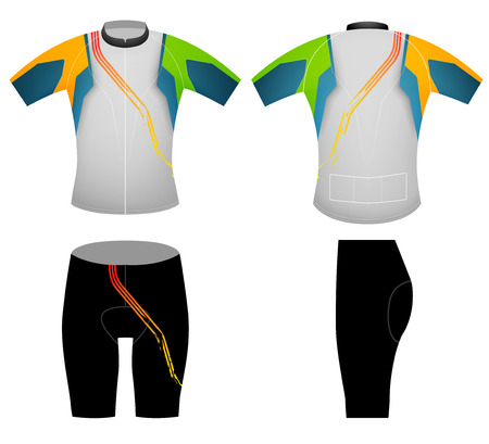 Green yellow cyclist,cycling vest design on a white background