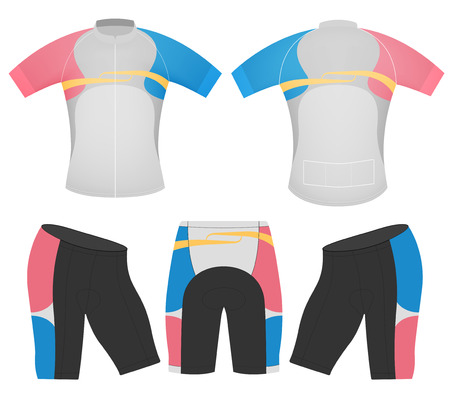 Shorts sleeve women style,cycling vest design on a white background