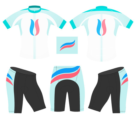 Cycling vest design style sports t-shirt on a white background