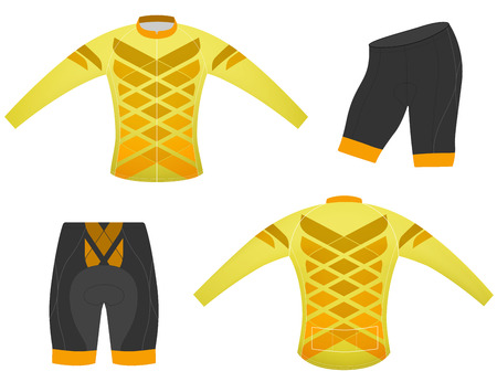 long sleeved: Sports t-shirt,cycling vest long sleeved vector on a white background