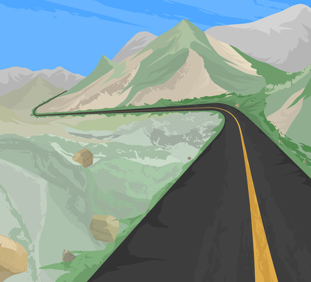 country road: Countryside,the road scene vector nature landscape background