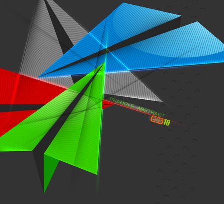 triangle shape: Triangle shape colorful scene vector concepts on a gray abstract background