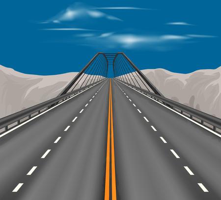 scena superstrada trasporto vettoriale natura paesaggio di sfondo Vettoriali