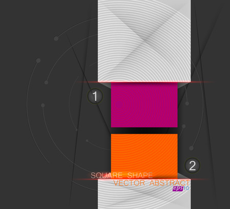 square shape: Colors square shape scene vector concepts abstract background Illustration